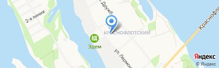 Начальная школа-детский сад №95 на карте Архангельска