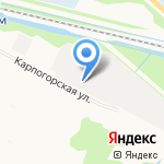 Север на карте Архангельска