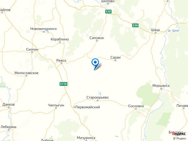 село Пронск на карте