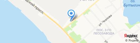 Контур на карте Архангельска