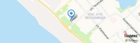 Отдел полиции №1 на карте Архангельска
