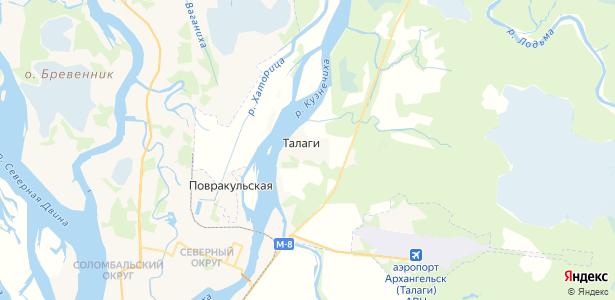 Талаги на карте