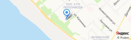 Магазин фруктов и овощей на Ленинградском проспекте на карте Архангельска