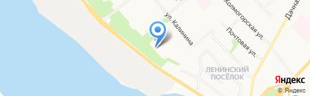 Средняя общеобразовательная школа №95 на карте Архангельска
