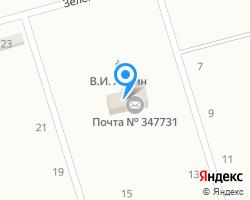 Схема местоположения почтового отделения 347731