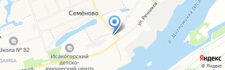 Продуктовый магазин на ул. Речников на карте Архангельска