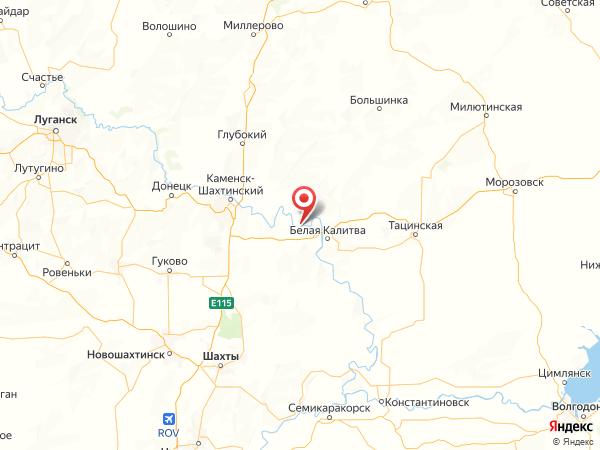 хутор Бородинов на карте
