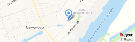 Исакогорская библиотека №14 на карте Архангельска