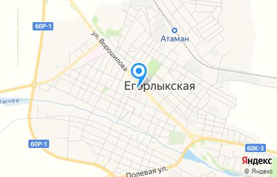 Местоположение на карте пункта техосмотра по адресу Ростовская обл, ст-ца Егорлыкская, ул Ворошилова, д 79А