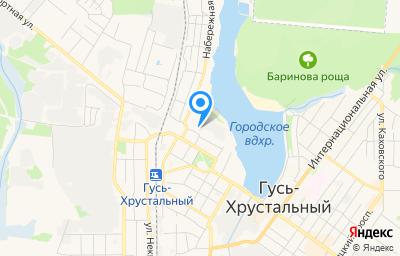 Местоположение на карте пункта техосмотра по адресу Владимирская обл, г Гусь-Хрустальный, ул Кравчинского, д 14