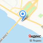 Оскор на карте Архангельска