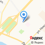Петромост на карте Архангельска