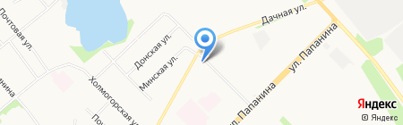 Магазин фруктов и овощей на Дачной на карте Архангельска