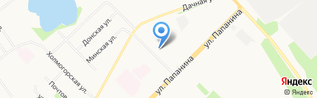 От заката до рассвета на карте Архангельска