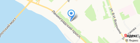 Библиотека №10 на карте Архангельска