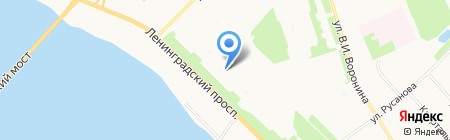 АВС на карте Архангельска