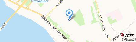 Детский сад №172 Клюковка на карте Архангельска