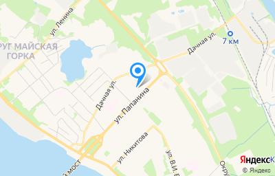 Местоположение на карте пункта техосмотра по адресу г Архангельск, ул Папанина, д 21