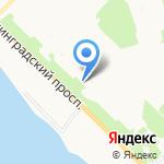 Мишка на карте Архангельска