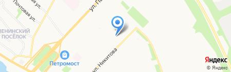 Анапис на карте Архангельска
