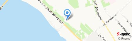 Магазин рыболовных и туристических принадлежностей на Ленинградском проспекте на карте Архангельска