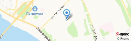 Средняя общеобразовательная школа №26 на карте Архангельска