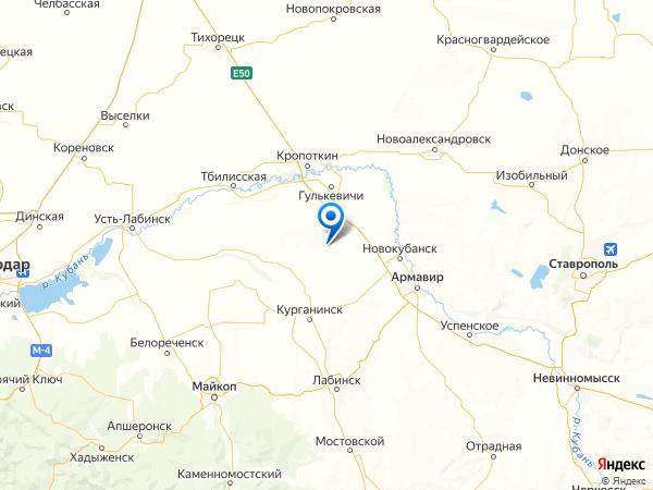 хутор Новокрасный на карте