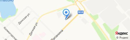 Лексус-Архангельск на карте Архангельска