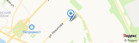 Цветочная фантазия на карте Архангельска