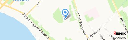 Переплётная мастерская на карте Архангельска