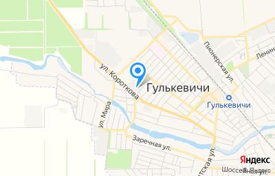 Местоположение на карте пункта техосмотра по адресу Краснодарский край, г Гулькевичи, ул Короткова, д 154