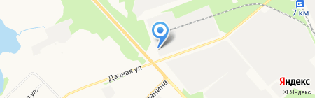 Рубленая баня на карте Архангельска