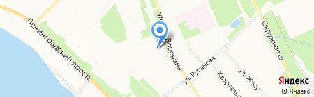 Средняя общеобразовательная школа №28 на карте Архангельска