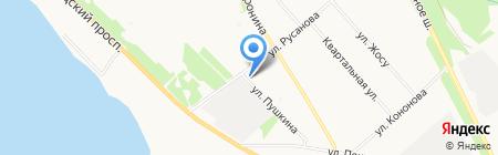 Магазин фруктов и овощей на ул. Русанова на карте Архангельска