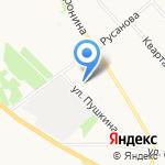 Стриж на карте Архангельска