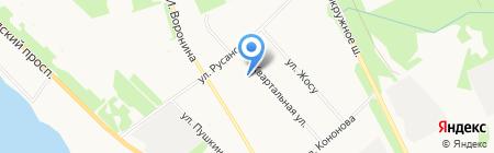 Средняя общеобразовательная школа №30 на карте Архангельска