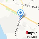 Ёрш на карте Архангельска