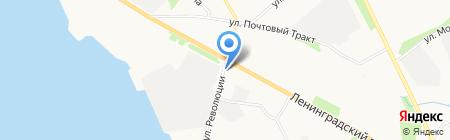 Северный банк Сбербанка России на карте Архангельска