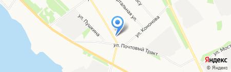 Южный на карте Архангельска