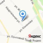 Авторитм на карте Архангельска
