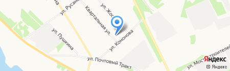 Хваканта на карте Архангельска