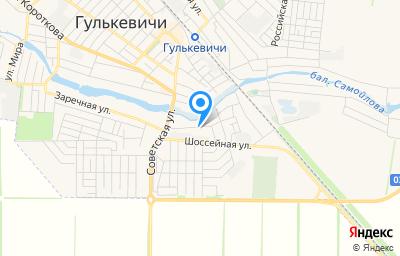 Местоположение на карте пункта техосмотра по адресу Краснодарский край, г Гулькевичи, ул Заречная, д 43