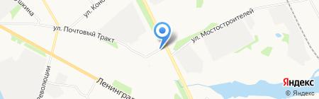 Автостоянка на Почтовом тракте на карте Архангельска