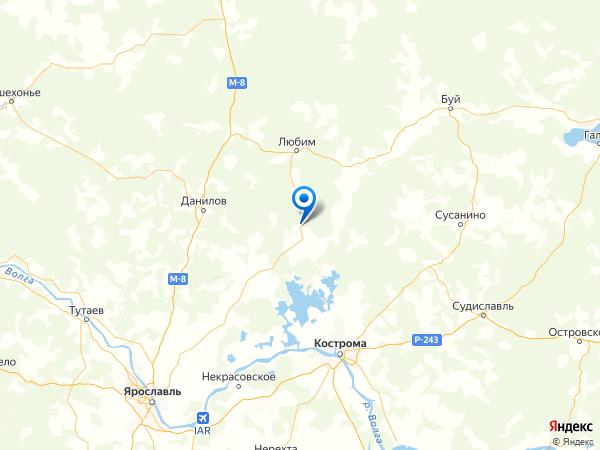 деревня Пречистое на карте