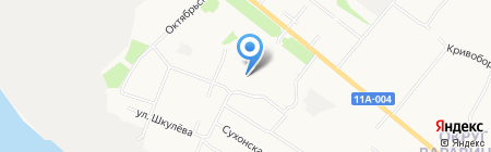 Детский сад №173 Подснежник на карте Архангельска