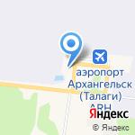 Нордавиа–региональные авиалинии на карте Архангельска