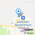 Киоск фастфудной продукции на карте Архангельска