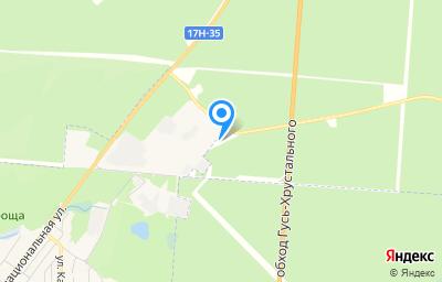 Местоположение на карте пункта техосмотра по адресу Владимирская обл, Гусь-Хрустальный р-н, тер Автодорога Гусь-Хрустальный - Лесниково - Купреево, км 1-й, зд 3