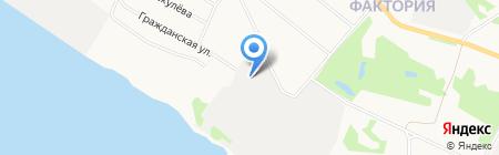 Тахис на карте Архангельска
