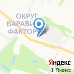 Люват на карте Архангельска